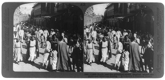 North past the principal street, Bagdad, where the Jews and Moslems throng