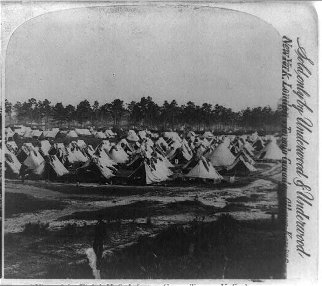 General view of the Eighth U.S. Infantry camp, Tampa