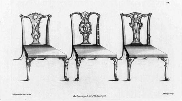 [Three Chippendale chairs]