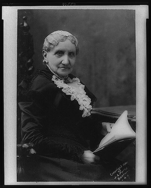 [Mary A. Livermore, half-length portrait, seated, facing right]