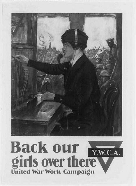 Back our girls over there United War Work Campaign /