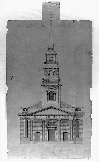 "[Church (""New South Church""), Summer Street and Bedford Street, Boston, Massachusetts. Exterior. Elevation]"