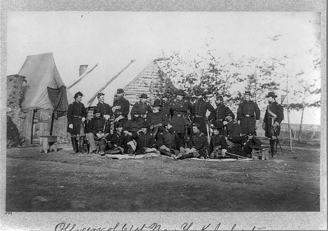 Officers of 61st New York Infantry, Falmouth, Va., April 1863