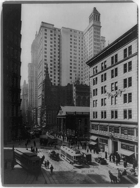 [Broadway south from Astor Building, New York City]