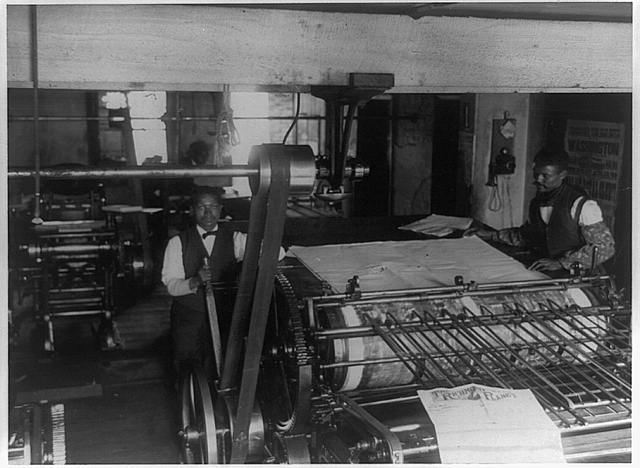 [Press room of the Planet newspaper, Richmond, Virginia]