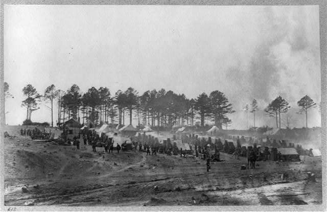 Headquarters, Army of Potomac--Brandy Station, April 1864. Camp of Provost Guard--114th Pennsylvania Infantry