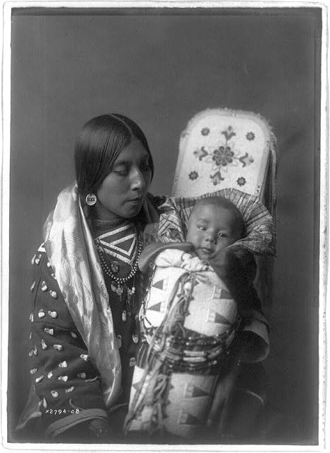 Mother and child--Apsaroke
