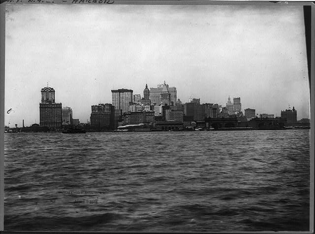 Looking north from bay, New York City, N.Y.