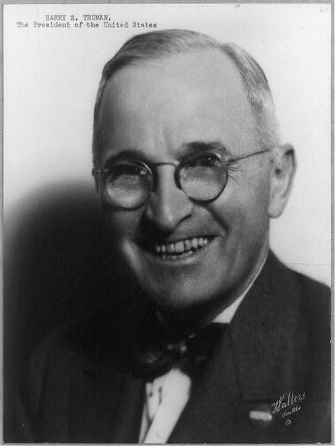 Harry S. Truman, the President of the United States