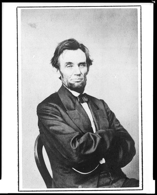 [Portrait of President Abraham Lincoln, half-length, seated]