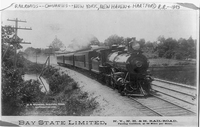 Bay State Limited, N.Y., N.H. & H. Railroad passing Guilford, Conn. at 60 miles per hour