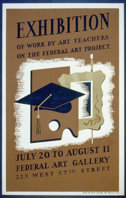 Exhibition of work by art teachers on the Federal Art Project