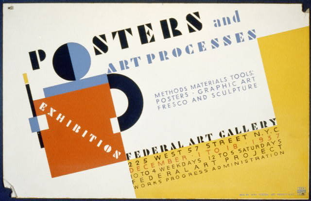 Posters and art processes Methods materials tools: Posters - graphic art fresco and sculpture.