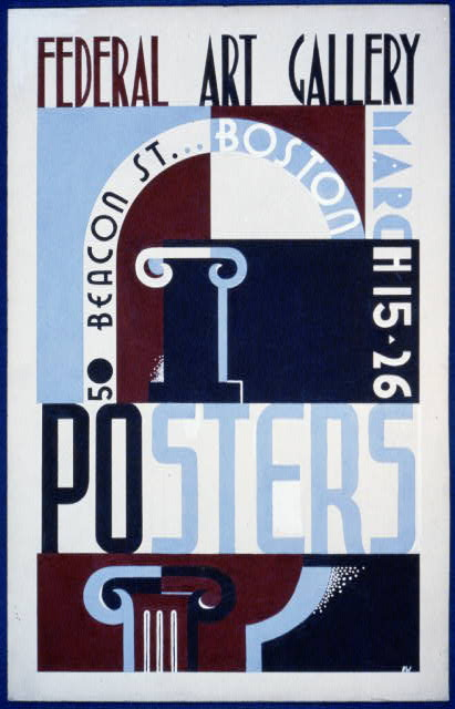 Posters, Federal Art Gallery, 50 Beacon St., Boston