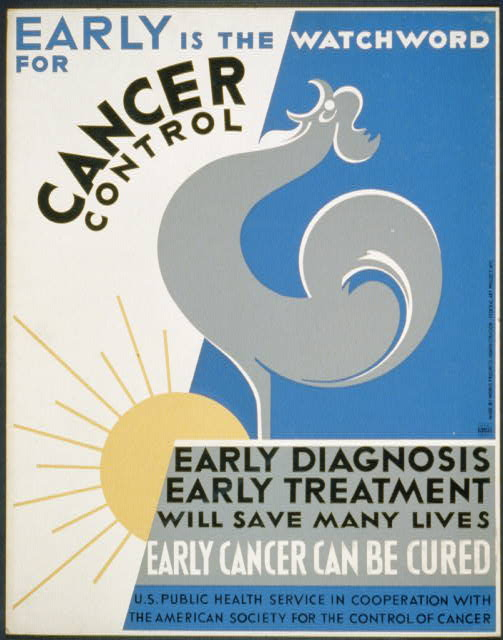 Early is the watchword for cancer control Early diagnosis, early treatment will save many lives : Early cancer can be cured.