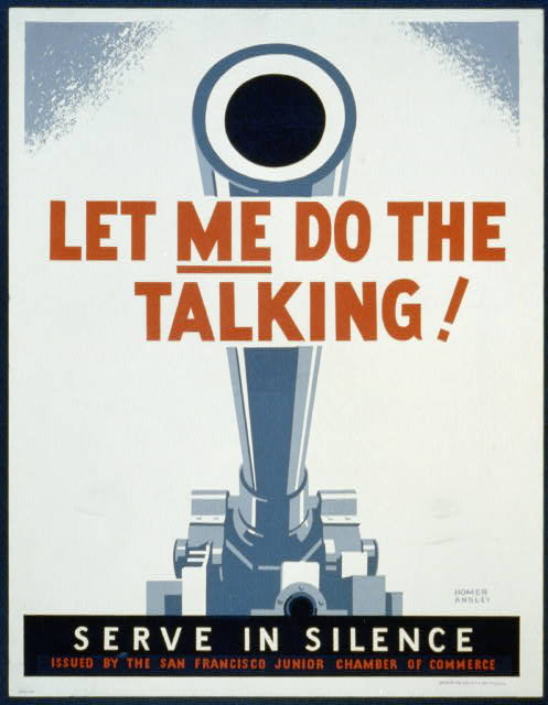 Let me do the talking! Serve in silence /