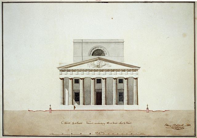 "[Bank building (""2nd Bank of the United States""), Philadelphia, Pennsylvania. North and south front, elevation]"