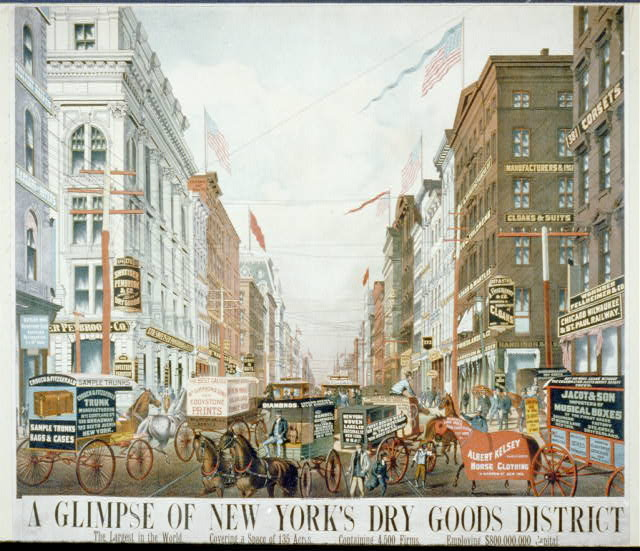 A glimpse of New York's dry goods district