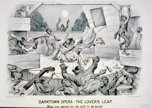 Darktown opera-the lovers leap: Whar yer gwine to, dis ain't in de book