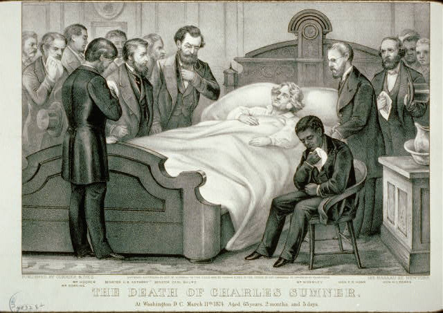 The Death of Charles Sumner: At Washington D.C. March 11th 1874. Aged, 63 years, 2 months, and 5 days