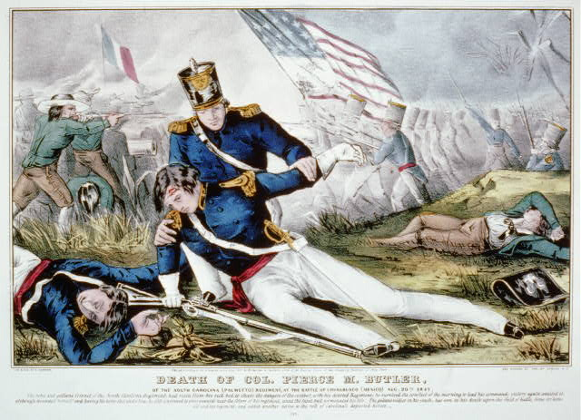 Death of Col. Pierce M. Butler: Of the South Carolina (Palmetto) regiment, at the Battle of Churubusco (Mexico) Aug. 20th 1847