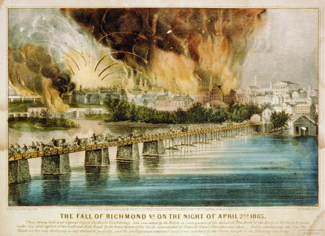 The fall of Richmond Va. on the night of April 2nd