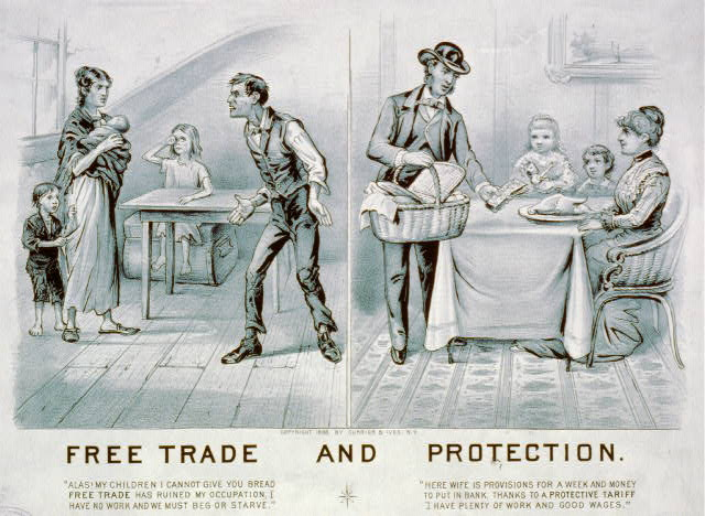 Free Trade and Protection (Currier and Ives)