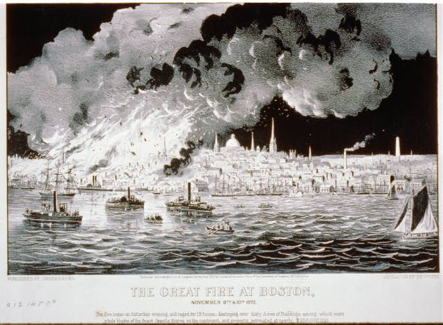 The great fire at Boston: November 9th & 10th 1872
