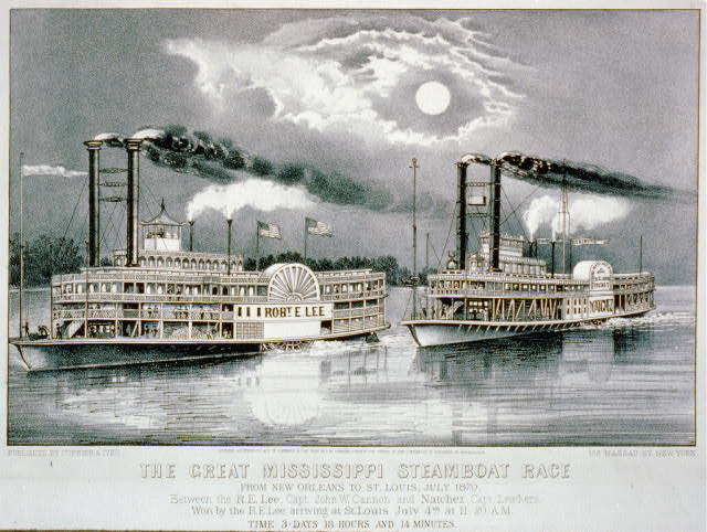 The great Mississippi steamboat race: from New Orleans to St. Louis, July 1870