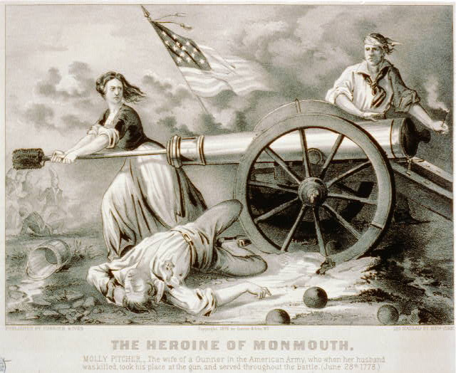 The Heroine on Monmouth. Molly Pitcher ... June 28, 1778