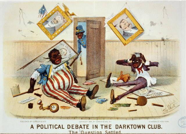 A political debate in the darktown club: the question settled