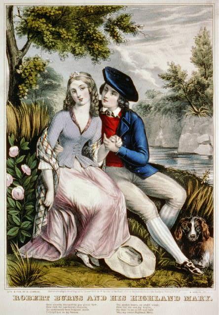 Robert Burns and his highland Mary
