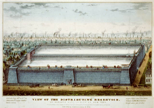 View of the distributing reservoir: on Murrays Hill,--City of New York