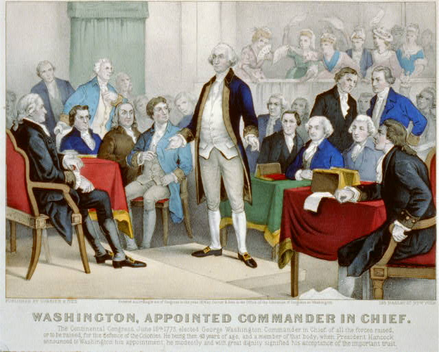Washington, appointed Commander in Chief