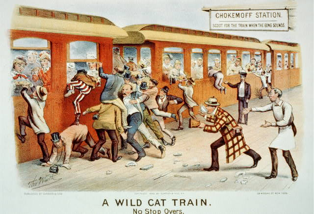 A wild cat train: no stop overs
