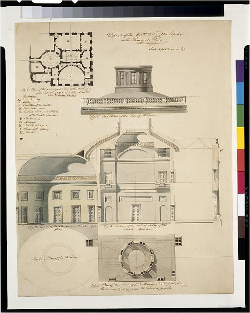 [United States Capitol, Washington, D.C. Principal story - plan, elevation, section, detail]