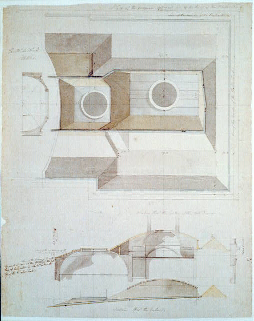 [United States Capitol, Washington, D.C. Plan & section of roof, north wing]