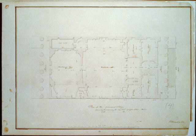"[Bank building (""2nd Bank of the United States""), Philadelphia, Pennsylvania. Plan of the principal story]"