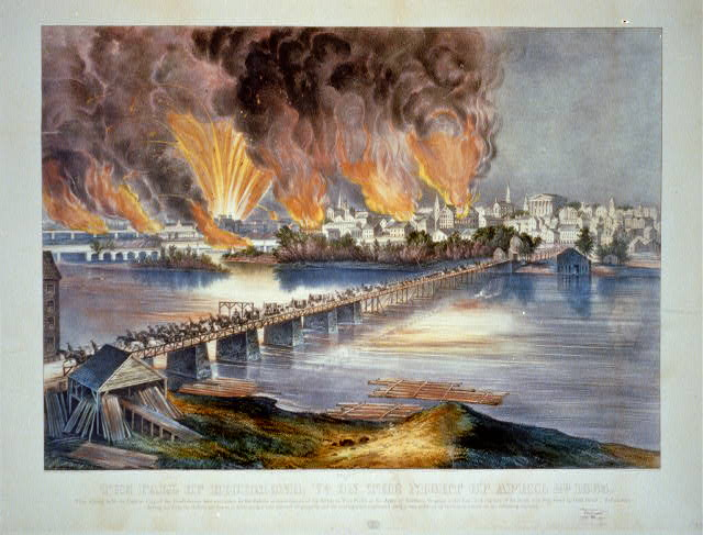 The fall of Richmond, Va. on the night of April 2d. 1865