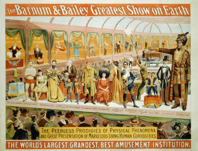 The Barnum and Bailey Greatest Show on Earth. The Peerless Prodigies of Physical Phenomena. [with] Smallest Man Alive [and] the Congo Giant