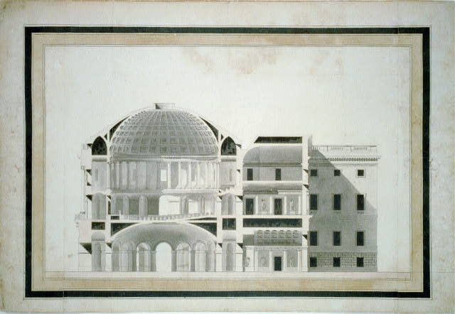 """[United States Capitol (""""Federal Capitol""""), Washington, D.C. Section and elevation of center]"""