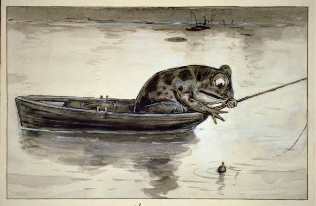 A luckless bull-frog lost his voice while talking in his sleep, and now he'll never fish it out --  his voice it is so deep