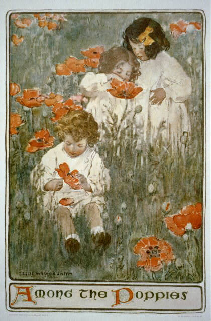 Among the poppies / Jessie Willcox Smith