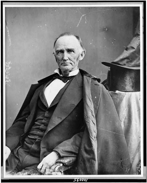 [Hon. Montgomery Blair, half-length portrait, seated, facing slightly left]