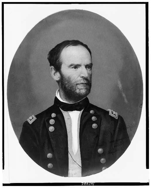 [General William Sherman, head-and-shoulders portrait, facing right]