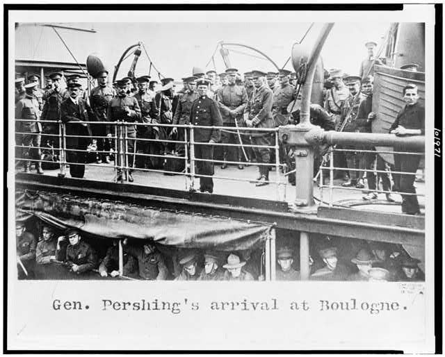 Gen. Pershing's arrival at Boulogne