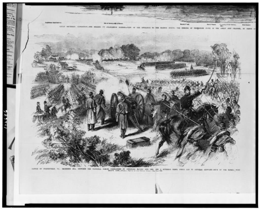 Battle Of Dranesville Va December 20th Between The National Forces Commanded By Generals Mccall And Ord And A Superior Rebel Force Led By General Stewart Rout Of The Rebels With Heavy