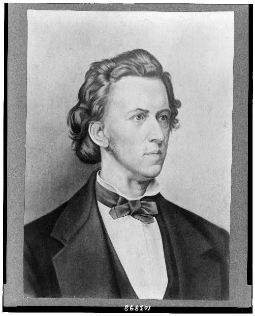 [Frédérick Chopin, head-and-shoulders portrait, facing right]