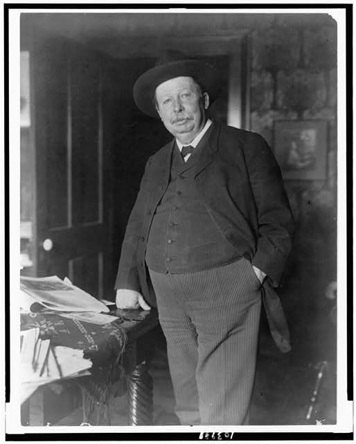 [Joel Chandler Harris, three-quarter-length portrait, standing, facing slightly left]