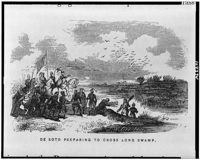 De Soto preparing to cross Long Swamp